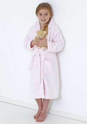 Terry Kids Bath Robes Hooded 100% Egyptian Cotton Girls Dressing Gown With Belt