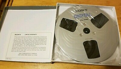 Sony D-1/4-730 Digital Audio Master Tape reel