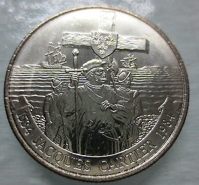 1984 Jacques Cartier Brilliant Uncirculated Dollar Coin