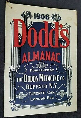 1906 Advertising Premium Dodd's Almanac Dodds Medicine Co Buffalo NY Medicine