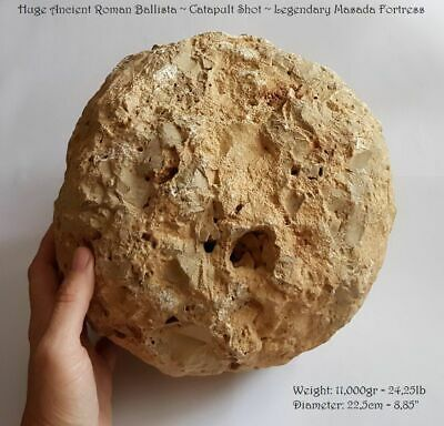 HUGE 24.25lb! ANCIENT ROMAN BALLISTA • CATAPULT SHOT • LEGENDARY MASADA • ISRAEL