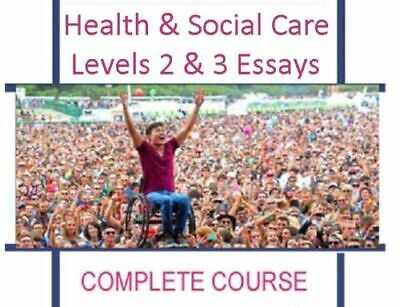 Hsc Qcf Nvq Svq Health Social Care Level 2 3 Full Course Example Essays 40 Units