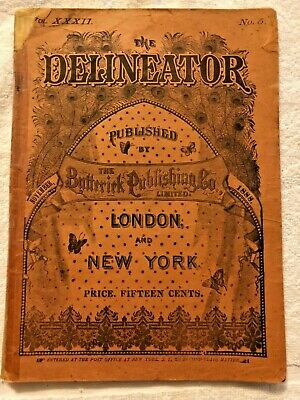 Delineator Butterick Magazine November 1888 Illustrated Sewing Patterns