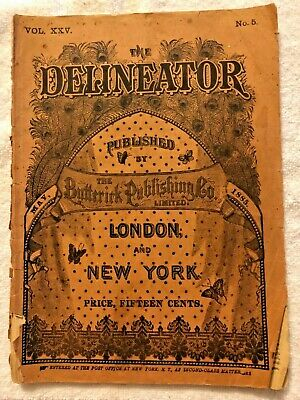 Delineator Butterick Magazine May 1885 Illustrated Sewing Patterns