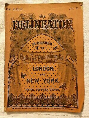 Delineator Butterick Magazine February 1887 Illustrated Sewing Patterns