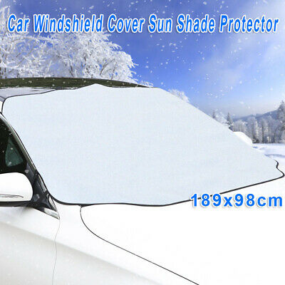 74x38.5 Inch Auto Windshield Snow Sun Cover Ice UV Protector For Car Truck SUV