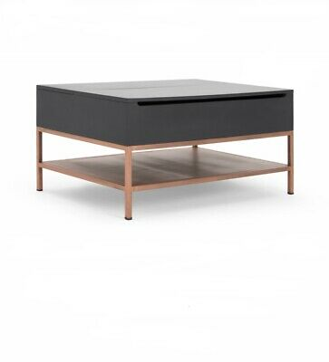 Madecom Lomond Lift Top Coffee Table With Storage Grey And