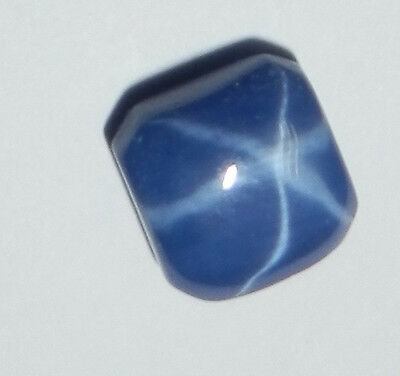 Blue Star Sapphire Round 4x4 mm Flat Cabochon 6 Rayed Lab-created Opaque Stone