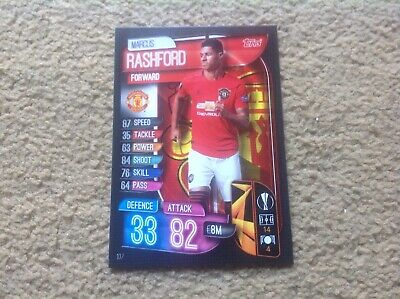 Match Attax 2019/20 Marcus Rashford Man Utd base card Mint New Rare POST FREE UK