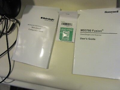 Honeywell Fusion MS3780 Barcode Scanner With Stand Metrologic !!