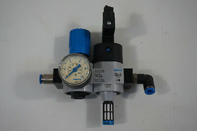 Festo LR-D-7-MINI 162582 Pressure Reducer + Hee D-MINI-24 172956 On-Off Valve