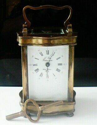 Vintage/Antique L'Epee Brass Carriage Clock