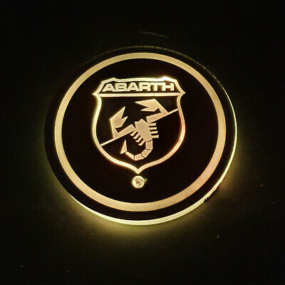 1 X FIAT ABARTH for all models cup holder set 7 color Free USB Charger 500X