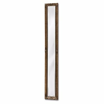 Tall Baroque Style Ornate Antique Gold Narrow Slim Full Length Wall Mirror