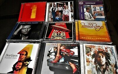 13 Greatest Hits CDs LED ZEPPELIN Fleetwood Mac ELTON BeeGees KISS Beach BEATLES