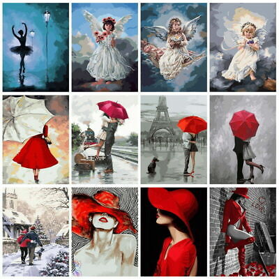 Angel Couple Beauty DIY Paint By Numbers Kit Digital Oil Painting Art Wall Decor