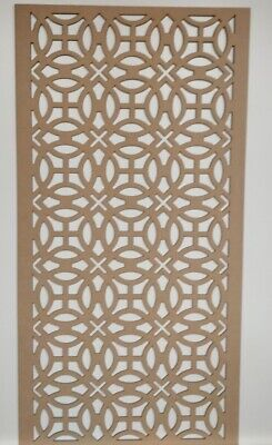Radiator Cabinet Decorative Screening Perforated 3mm&6mm thick MDF laser cut KS2