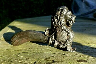 Antique 2x Lever Door Handle with Lion Head design Unique Rare Collector Project