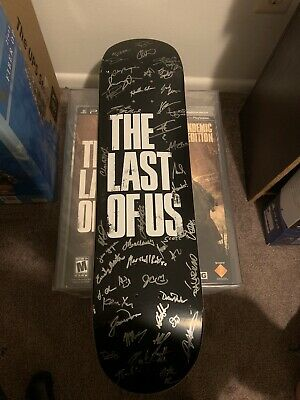 The Last of us Super Rare Skateboard Signed By Naughty Dog Studio One of A Kind
