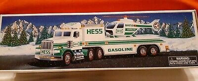 1995 HESS Toy Truck and Helicopter New in Box Collectible unused