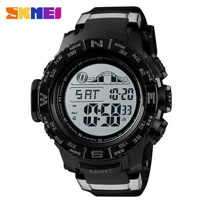 SKMEI Men's Sports Military Digital Dual Time Watch Electronic Alarm Wristwatch