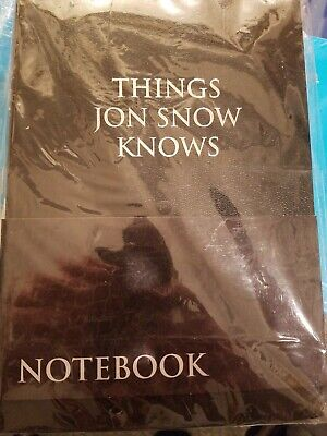 Game of Thrones Things Jon Snow Knows Journal Notebook CultureFly RARE