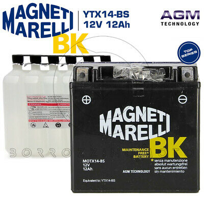 Replaces YTX14-BS Atom Advanced ATX14-BS Gel Motorcycle Battery DTX14-BS 512 014 010