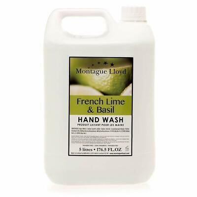 Hand Wash 5L French Lime and Basil Commercial refill Made in Scotland