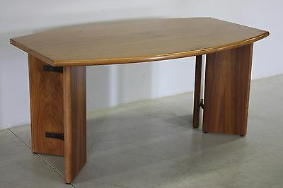 Table Secretary Desk Modern Furniture Desk Wooden Teak Modern Antiques Years 80