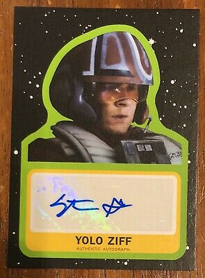 Journey To Star Wars RISE OF SKYWALKER - AUTOGRAPH YOLO ZIFF - Stefan Grube A-SG