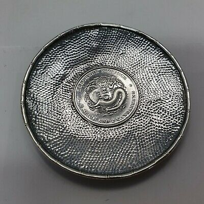 Chinese export silver coin shell / Münzschale Silber China