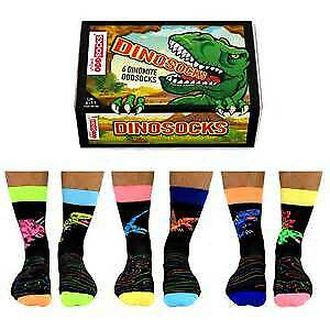 United Oddsocks Dinosocks Mens Novelty Socks - Fun Gift Ideas For Men