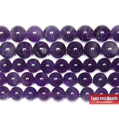 Free Shipping AAAA Quality Natural Stone Purple Amethysts Crystals Round Loose