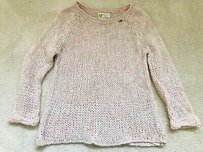Girls Pale Pink Jumper Age 7-8 Years From M&S