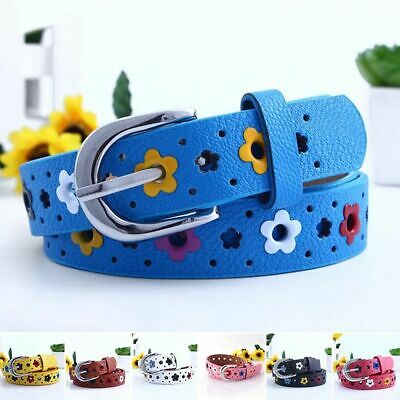 Unisex Kids PU Leather Waistband Waist Belt Children Belt Adjustable Belts