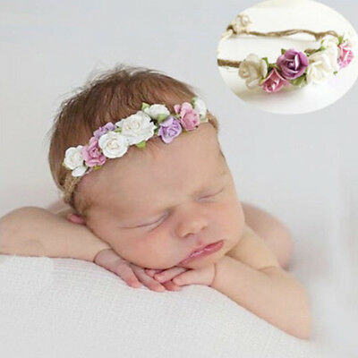 Toddler baby girls kids flower party headband hair band photo prop lovely  XJ