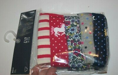 New Gap Kids 5 Pack Panties Bikinis Underwear 10 12 14 NWT Unicorn Stars Floral