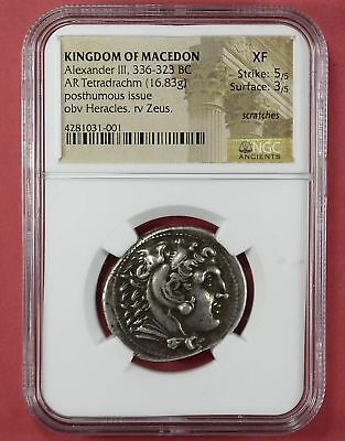 Kingdom Of Macedon Alexander III 336-323 BC  Extra Fine Scarce Variety