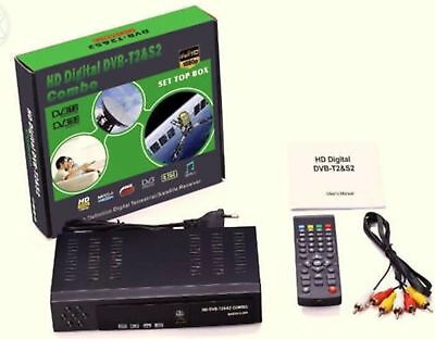 Decoder Digitale Full Hd Wi-Fi Combo Digitale Terrestre E Satellitare Dvb-T2/S2