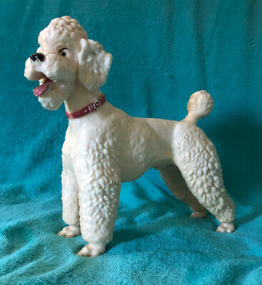 Breyer  VINTAGE White POODLE #68 Glossy Finish RED COLLAR