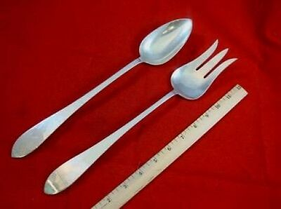 "Pointed by Porter Blanchard Sterling Silver Salad Set Long AS 13"" 2pc"