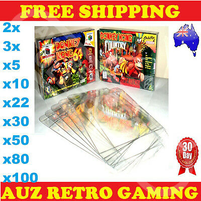 Thick GAME BOX PROTECTORS Cases For SNES Super Nintendo 64 / N64 BOXED Games