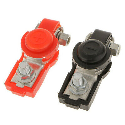 2x Car Battery Terminal Ends Clamp Clips Connector Negative Positive Adjustable