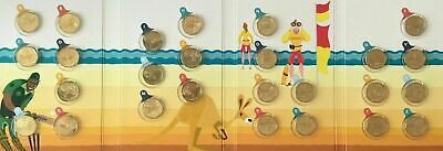 2019 $1 (A-Z) The Great Aussie Coin Hunt Full Set 26 Unc Coins In Folder