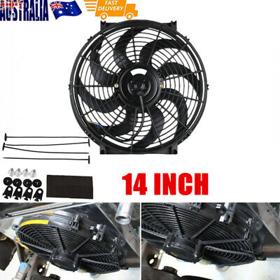 14Inch Slim Fan Electric Radiator Cooling 12V Universal Pull/Push Thermo Fan