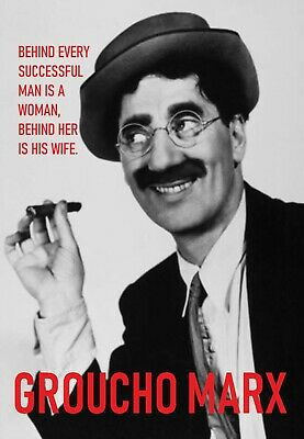 Groucho Marx Quote Printed Patch Sew On Vest Bag