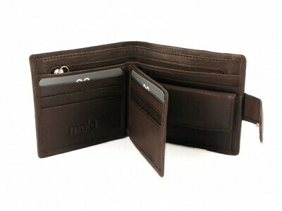 Men's Wallets Brown Mala Leather Toscana Bi Fold Tab Wallet 153 44 Boxed