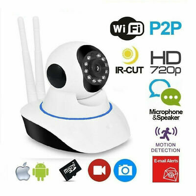 Telecamera Ip Cam Camera Hd 720P Wireless Led Ir Lan Motorizzata Onvif 360Eyes