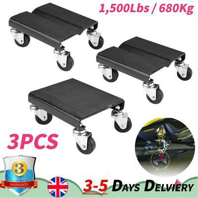 3*Tire Dolly Skate Repair Snowmobile Moving Jack Set 1500lbs for Auto Snowmobile