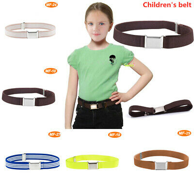 Fashion Casual Children Boy Girl Leather Adjustable Waist Belts Waist Strap UK